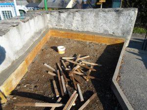 aménagement d'un point d'eau au cimetière