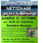 Chantier de nettoyage des lacs de Matheysine