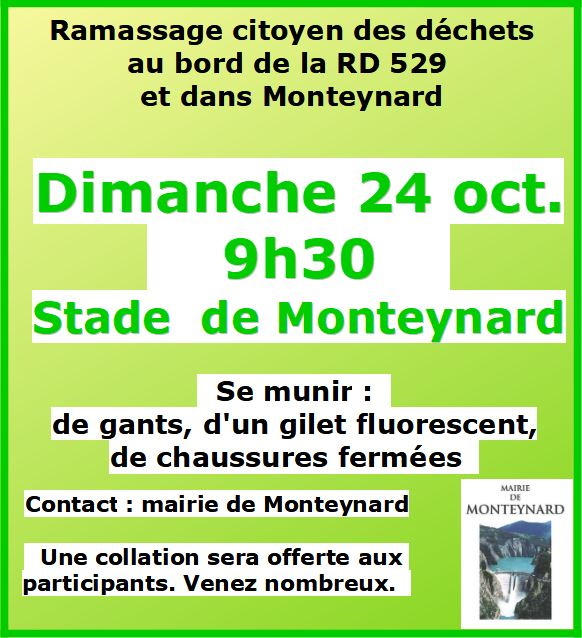 Ramassage citoyen des déchets dimanche 24 octobre