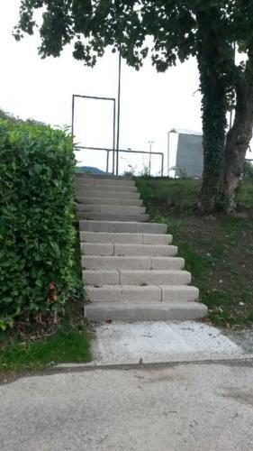 l'escalier du stade