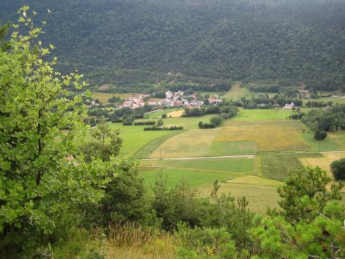 vue de la colline du château