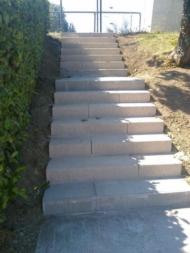 escalier du stade