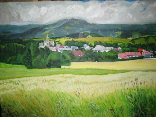 Village peint